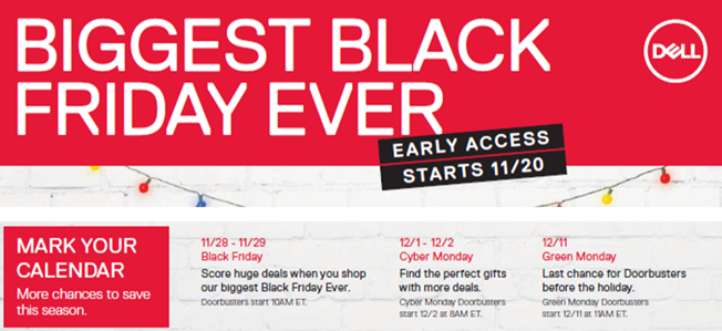 Dell Black Friday Sale flyer