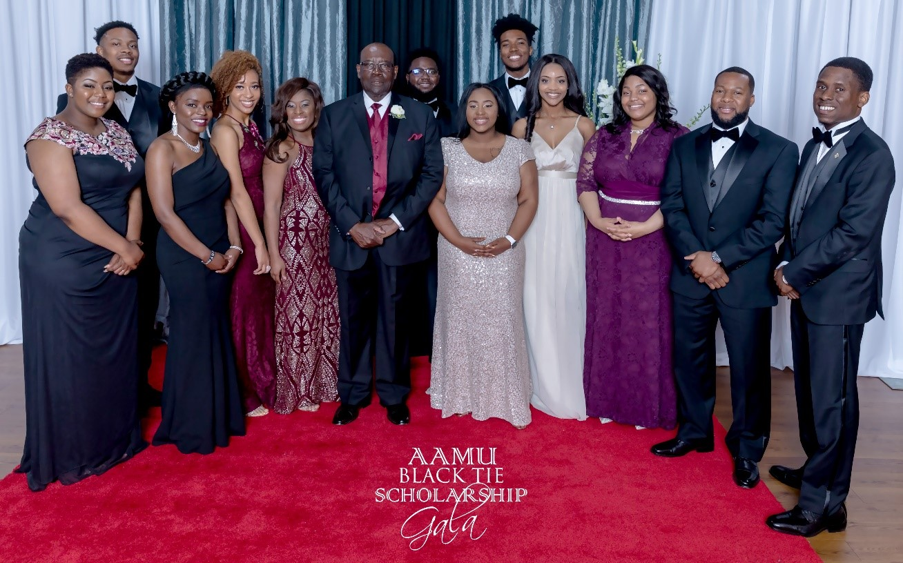 Group Photo at AAMU Black Tie Gala
