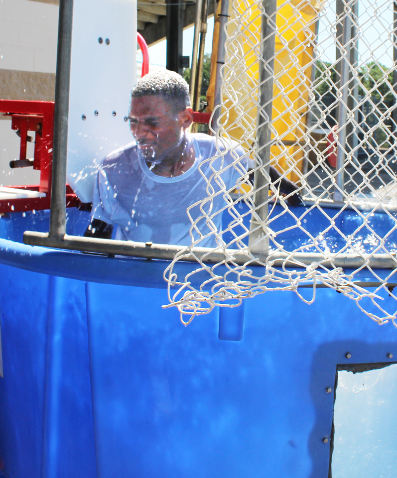 The thrill of the dunking booth.