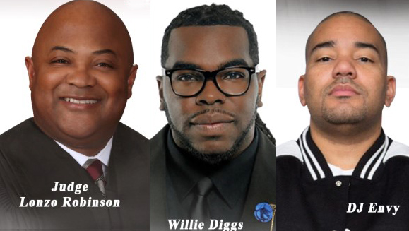 Summit speakers Judge Robinson, Willie Diggs and DJ Envy