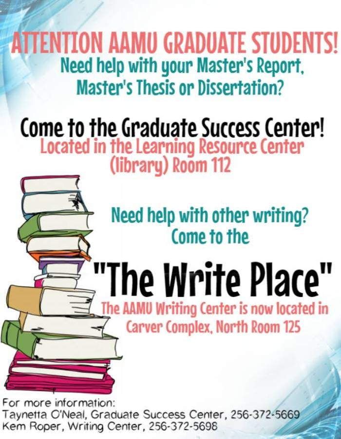 revised graduate school writing center flyer