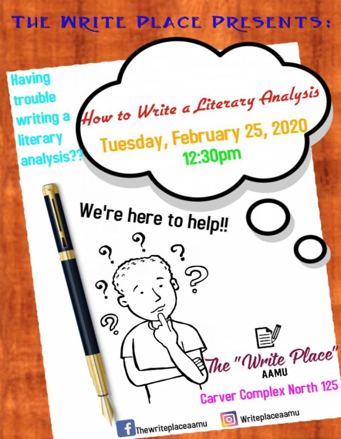 literary analysis flyer