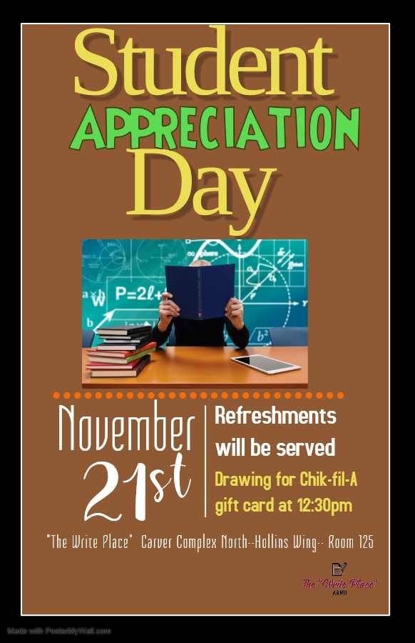 Student Appreciation Day, November 21, 2019 at 12:30pm