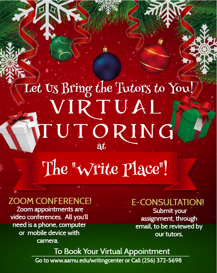 Virtual Tutoring at the Write Place