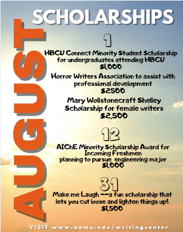 August scholarship flyer