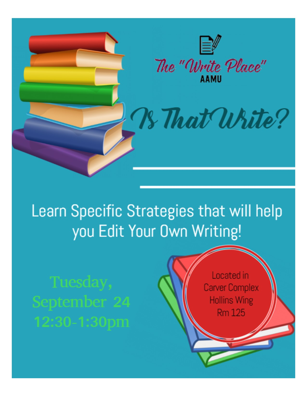 Is that Write? workshop flyer