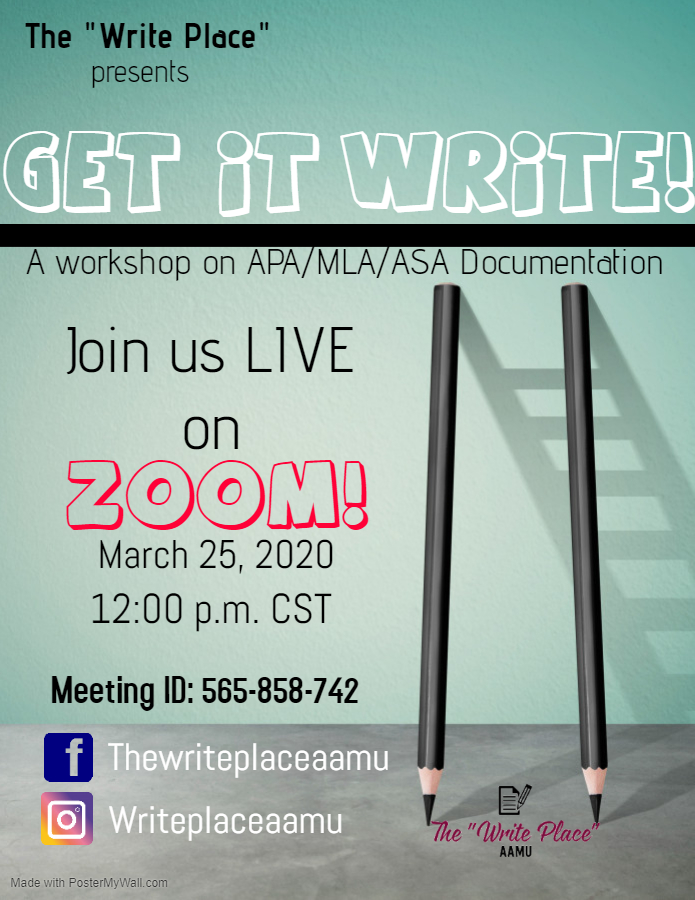 Get it Write: APA and MLA Documentation Flyer