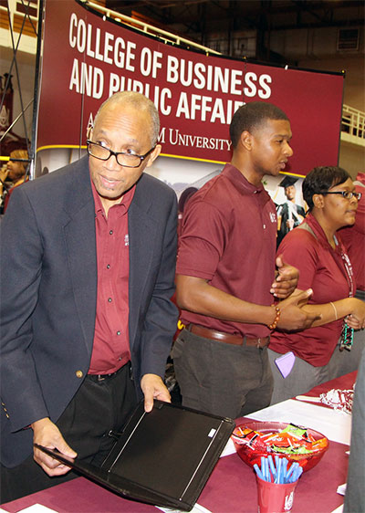 College of Business & Public Affairs representatives at AAMU's High School Senior Day