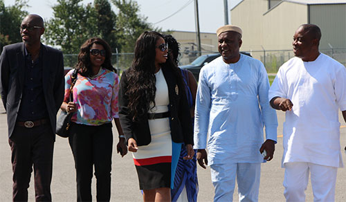 Nigerian officials in traditional garb visit AAMU