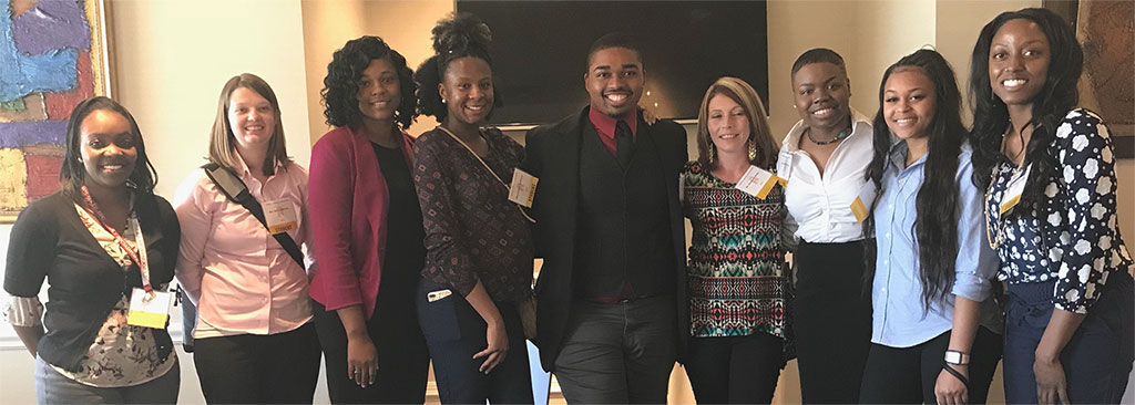 Bachelor of Social Work students attend a NASW conference