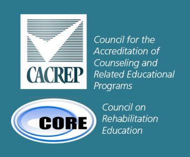 Council on Rehabilitation Education (CORE) and the Council for the Accreditation of Counseling and Related programs (CACREP) Logo