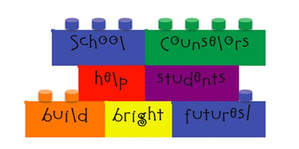logo for School Counselors help students build bright futures