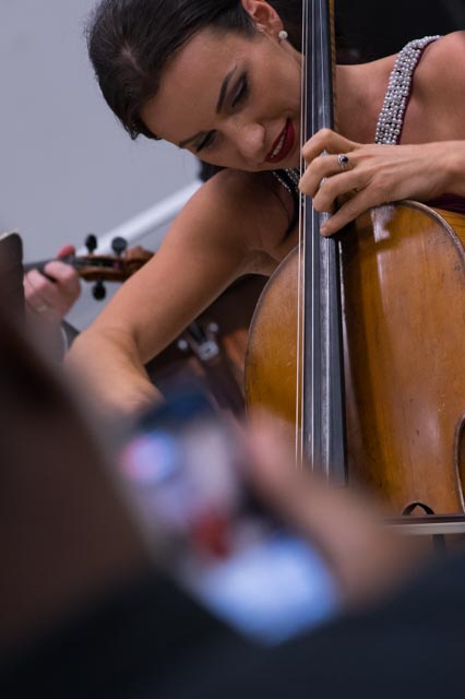 A Performing Arts student plays the cello