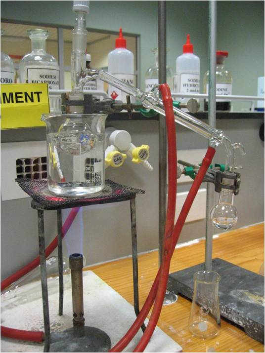 Photo of chemistry lab equipment
