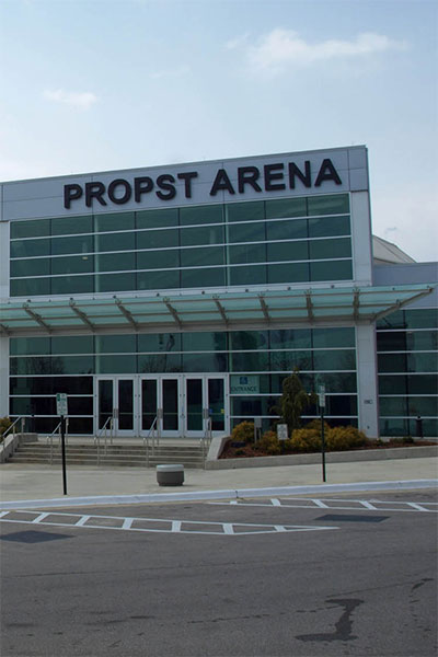 Photo of Propst Arena and handicap parking