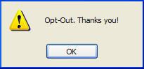 Screenshot of confirmation of opt-out with Banner Self Service