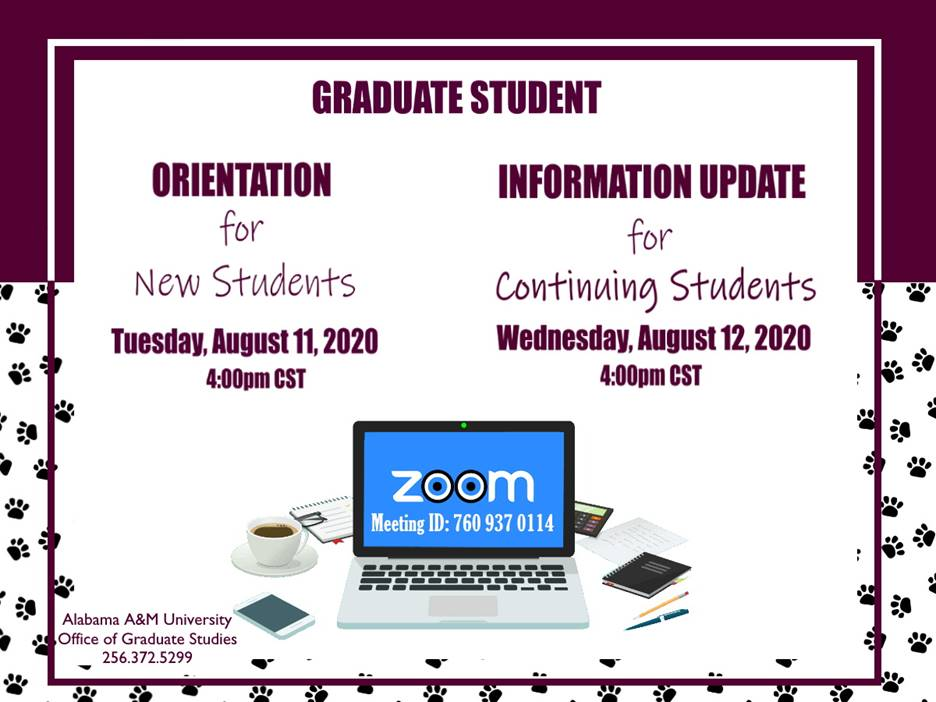 Graduate Studies Fall 2020 Orientation