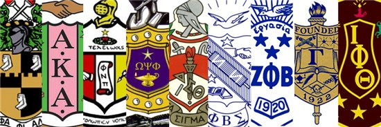 Collage of the logos of the Divine Nine NPHC organizations
