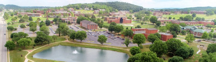 Aerial photo of AAMU campus