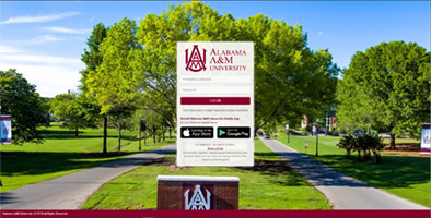 myAAMU SSO sign-in page